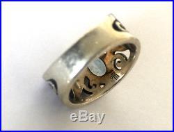 RARE James Avery Blue Topaz Abounding Vine Ring Band Size 6.25 Rare Retired