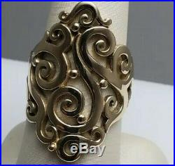 RARE James Avery Sorrento Scroll Ring Size 9 RETIRED 14kt Yellow