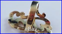 RARE RETIRED James Avery 14k Yellow Gold Scrolled 2 Double Hearts Ring Sz 3