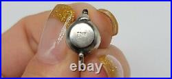 RARE RETIRED James Avery Sterling Silver Tea Pot Charm Cut Ring 0.61