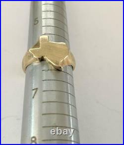 RARE Retired JAMES AVERY 14K Yellow Gold STATE OF TEXAS Ring Sz 6