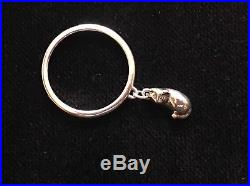 RETIRED JAMES AVERY 3D Sterling Silver STER Tiny CaT Charm Dangle Ring Size 8