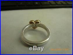 RETIRED James Avery 14K Gold & Sterling Silver Heart Ring Size 5.5 VERY RARE
