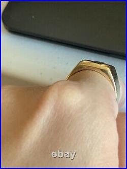 RETIRED James Avery 14k Yellow Gold Greek Cross Or Iron Cross Ring