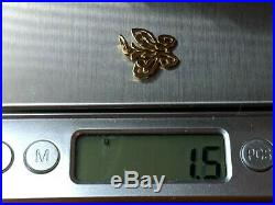 RETIRED James Avery 14k Yellow Gold Open Lace Butterfly Charm UNCUT RING