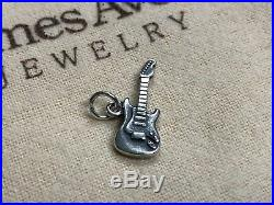 RETIRED James Avery Electric Guitar Sterling Silver Charm with Jump Ring