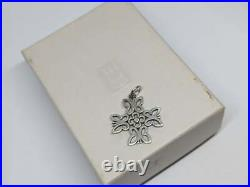 RETIRED James Avery Sterling Silver 4 Butterfly Cross Charm Uncut Ring with Box
