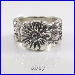 RETIRED James Avery Sterling Silver Flower Floral Ring Size 6 LHA4