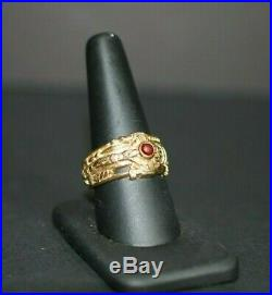 RETIRED Men's James Avery Martin Luther Crucifix Ring 14k Gold