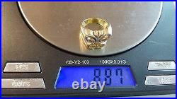 RETIRED Vintage James Avery 14k Yellow Gold Open Spring Butterfly Ring Sz 3