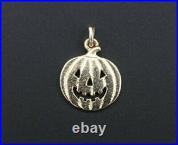 Rare Early James Avery Jack-O-Lantern Pumpkin Charm UnCut Ring CM-886 CHS1461