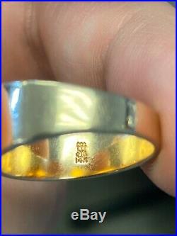 Rare Retired James Avery 14K Gold Christian Symbol Ichthus Fish Ring