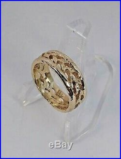 Rare Retired James Avery 14K Gold Continuous Vine Ring Size 8.25