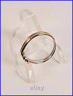 Rare Retired James Avery 14K Gold & Sterling Lovers' Knot Ring Size 8.5