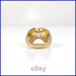 Rare Retired James Avery 14K Yellow Gold Blue Topaz Monaco Ring Size 7.5 LDE2