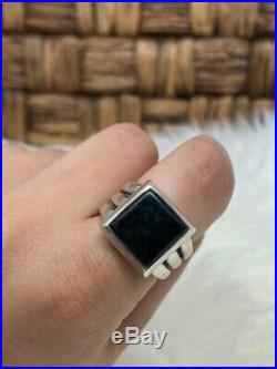 Rare Retired James Avery Black Onyx Square Ring Size 6