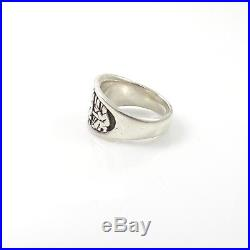 Rare Retired James Avery Last Supper Sterling Silver Ring LQL45