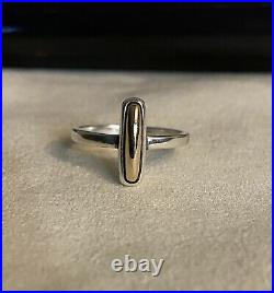 Rare Retired James Avery Sterling Silver/14k Ring Size 7