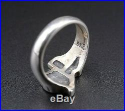 Rare Retired James Avery Sterling Silver Texas Ring Size 4 RS2453