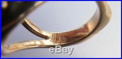 Rare Vintage James Avery Ring Retired 14k Yellow Gold Lone Star Of Texas Topaz