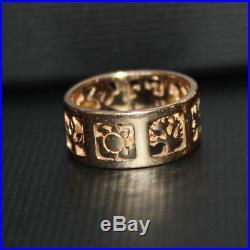 Retired 14k Gold James Avery Four Seasons Ring 5.6 Grams