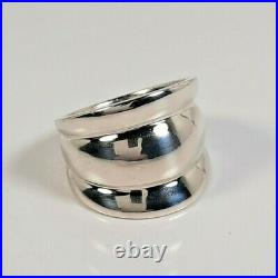 Retired HTF James Avery Sterling Silver 925 Wide Triple Dome Band Ring sz 5