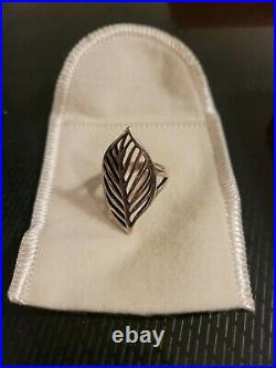 Retired & HTF James Avery Sterling Silver Open Leaf Ring size 7