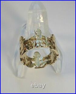 Retired James Avery 14K Gold Paper Doll Children Ring Size 7