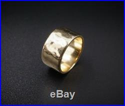 Retired James Avery 14k Yellow Gold Amore Wide Wedding Band Ring Size 5.5 RG1704