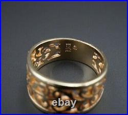 Retired James Avery 14k Yellow Gold Open Adorned Band Ring Sz 6.5 RG-683 RG2917