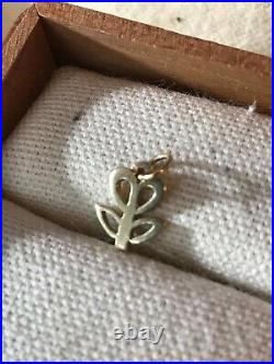 Retired James Avery 14k Yellow Gold Small Tulip Flower Ring Charm 1/2 CHS1492