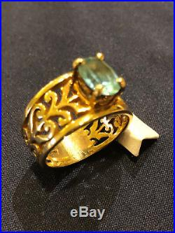 Retired James Avery 14k Yellow Gold Topaz Adoree Ring Size 9