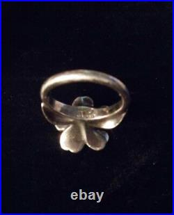 Retired James Avery APRIL FLOWER RING 18k Gold & Sterling Silver Size 6