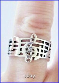 Retired James Avery Amazing Grace Music Ring PRETTY