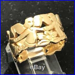 Retired James Avery Angel Band Ring R-132 Sz 7 1/2 14K Yellow Gold. 585