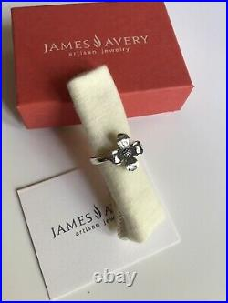 Retired James Avery Dogwood Blossom Ring-sterling Silver-rare Vintage 8.5