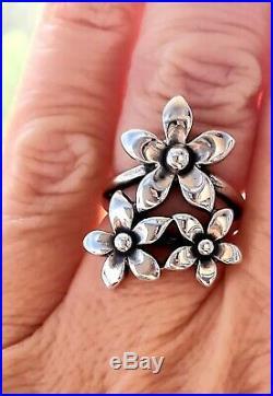 Retired James Avery Flower Ring Sterling Silver NICE