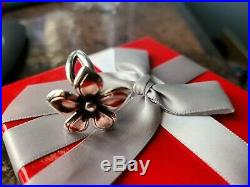Retired James Avery Flower Ring with Copper Petals. So PRETTY! Rare Ring