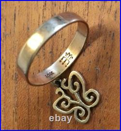 Retired James Avery Gold Butterfly Charm Ring Size 7.5 Beautiful Buy It Now