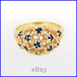 Retired James Avery Margarita Ring 14KY withSapphires Size 7