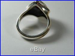 Retired James Avery Red Garnet Scroll 18k Gold Sterling Silver 925 Ring Size 8