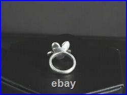 Retired James Avery Ring Blossom Flower 14K Gold Sterling Silver Tiny Small 4.5