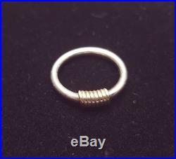 Retired James Avery Sterling Silver 14k Gold Kalahari Ring Size 6.5