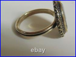 (Retired) James Avery Sterling Silver Cameo Elephant Ring Size 8 Beautiful