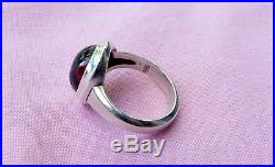 Retired James Avery Sterling Silver Oval Amber Center Stone Ring Size 8