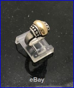 efbcf3047 Retired James Avery Thatched A Ring Sz 3 1/2 14K Yellow Gold Sterling Silver