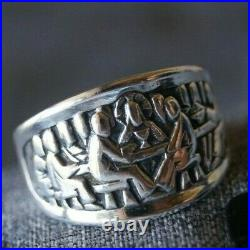 Retired & ONE OF A KIND James Avery LAST SUPPER Ring Sterling Silver Size 7.75