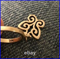 Retired & Rare James Avery BUTTERFLY DANGLE CHARM Ring 14k Gold Size 3