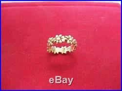 Retired Solid 14k James Avery Flower Ring