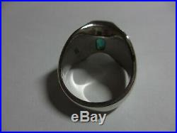 STUNNING RARE RETIRED JAMES AVERY STERLING MONACO RING WithCHALCEDONY -SIZE 8-NR